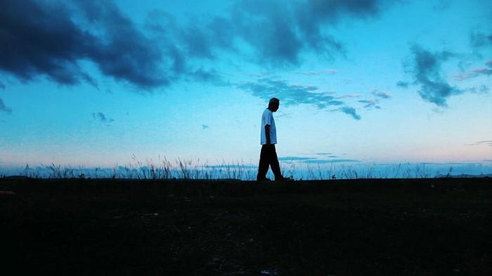 Hersri Setiawan, tokoh utama di Film Pulau Buru Tanah Air Beta. Kredit Foto ???????????